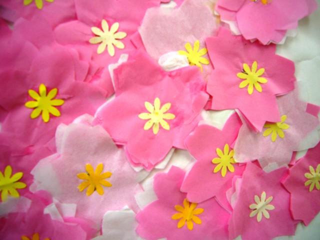 貼り絵桜2