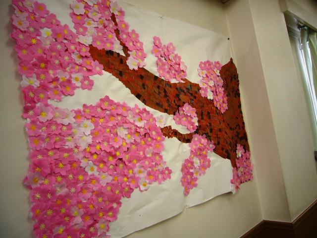 貼り絵桜3