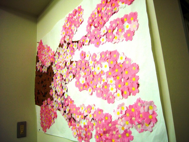 貼り絵桜1